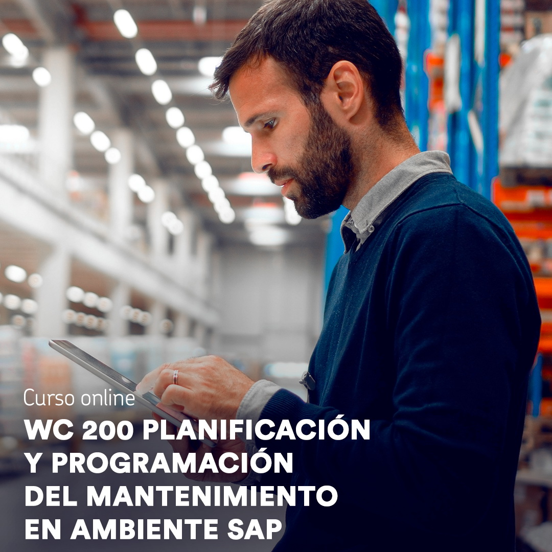 Curso Online: Planificación y programación del mantenimiento en ambiente SAP