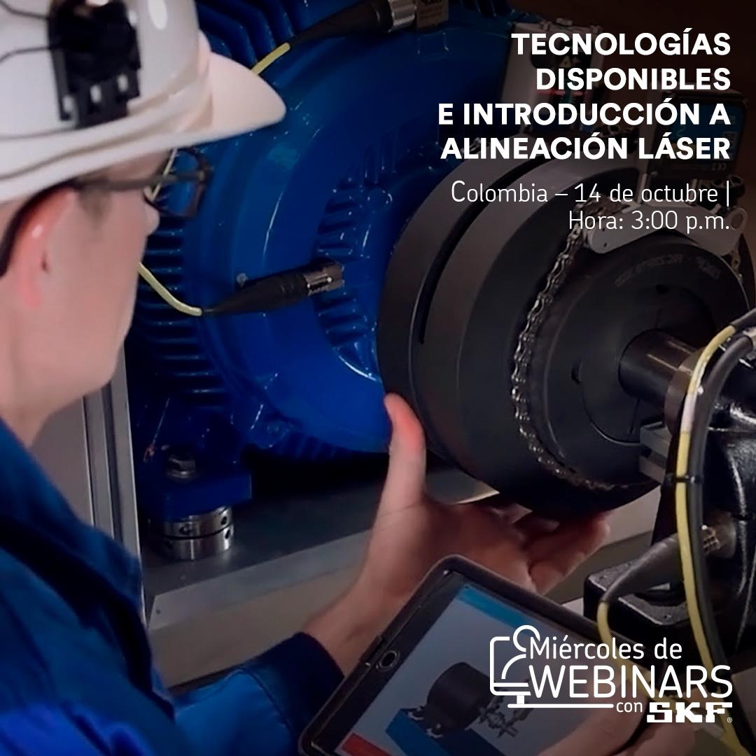 Webinar gratuito: Tecnologías disponibles e introducción a Alineación Láser