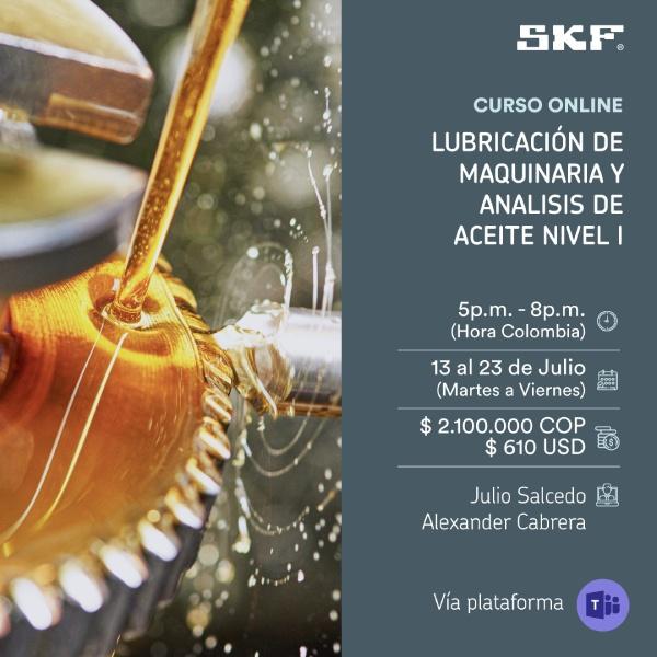 Lubricación de maquinaria y Análisis de aceite Nivel I